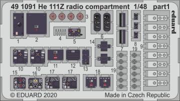 Heinkel He 111Z - Radio compartment [ICM] · EDU 491091 ·  Eduard · 1:48