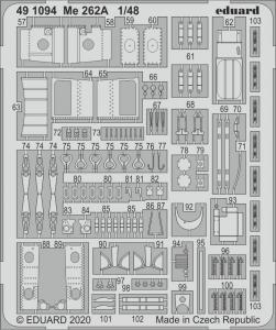 Messerschmitt Me 262A [HobbyBoss] · EDU 491094 ·  Eduard · 1:48