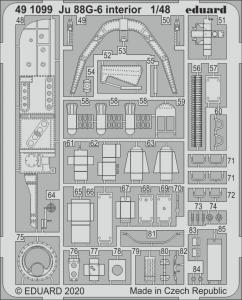 Junkers Ju 88 G-6 - Interior [Dragon] · EDU 491099 ·  Eduard · 1:48
