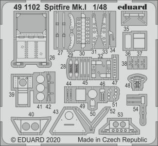 Spitfire Mk.I [Airfix] · EDU 491102 ·  Eduard · 1:48