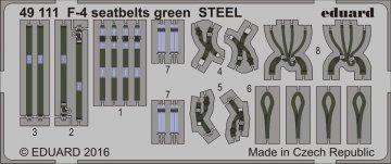 F-4 - Seatbelts green STEEL · EDU 49111 ·  Eduard · 1:48