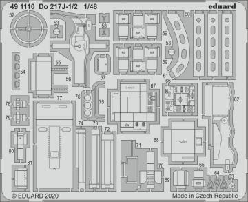 Dornier Do 217 J-1/2 [ICM] · EDU 491110 ·  Eduard · 1:48