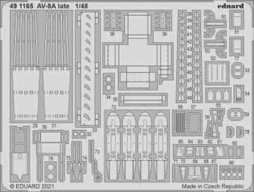 AV-8A Harrier late [Kinetic Models] · EDU 491165 ·  Eduard · 1:48