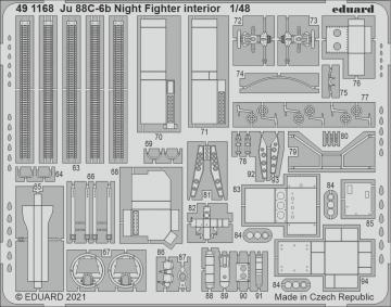 Junkers Ju 88 C-6b Night Fighter - Interior [ICM] · EDU 491168 ·  Eduard · 1:48