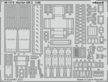 Harrier GR.3 [Kinetic Model Kits] · EDU 491173 ·  Eduard · 1:48