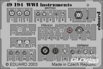 WW I Instruments · EDU 49194 ·  Eduard · 1:48