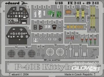 P-40E Kittyhawk für Mmtech/AMT Bausatz · EDU 49241 ·  Eduard · 1:48