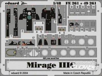 Mirage IIIC · EDU 49261 ·  Eduard · 1:48