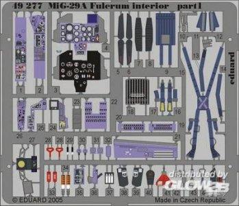 MiG-29A Fulcrum - Interior [Academy] · EDU 49277 ·  Eduard · 1:48