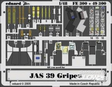 JAS-39 Gripen [Italeri] · EDU 49300 ·  Eduard · 1:48