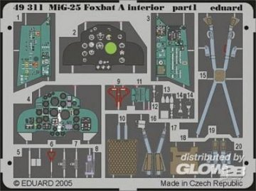 MiG-25 Foxbat A - Interior [Revell] · EDU 49311 ·  Eduard · 1:48