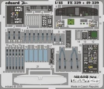 SH-60B Sea Hawk - Interior · EDU 49329 ·  Eduard · 1:48