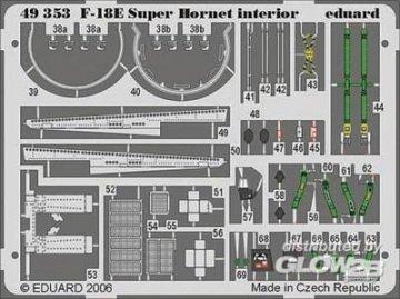 F-18E Super Hornet - Interior [Hasegawa] · EDU 49353 ·  Eduard · 1:48