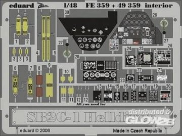SB2C-1 Helldiver interior für Revell/Monogram/Accurate Miniatures Bausatz · EDU 49359 ·  Eduard · 1:48