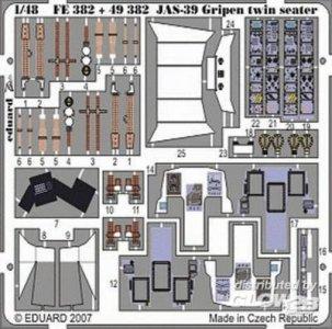 JAS-39D Gripen double seater S.A. [Italeri] · EDU 49382 ·  Eduard · 1:48