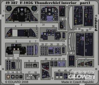 F105G Thunderchief interior s.adh. für Revell Bausatz · EDU 49387 ·  Eduard · 1:48