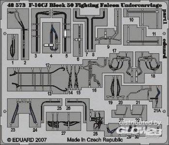 F-16CJ Block 50 Fighting Falcon - Undercarriage [Tamiya] · EDU 49390 ·  Eduard · 1:48