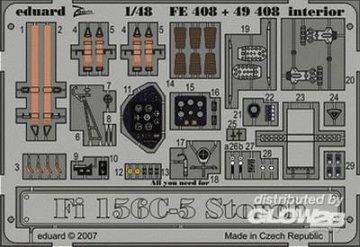 Fi 156C-5 Storch interior für Tamiya Bausatz · EDU 49408 ·  Eduard · 1:48