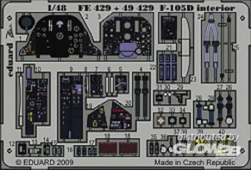 F-105D interior Für Hobby Boss Bausatz · EDU 49429 ·  Eduard · 1:48