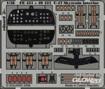 C-47 Skytrain - Interior S.A. [Trumpeter] · EDU 49431 ·  Eduard · 1:48