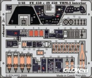 TBM-3 interior selbstklebend für Hobby Boss Bausatz · EDU 49450 ·  Eduard