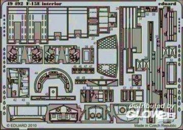 F-15E interior S.A. für Academy 12215 · EDU 49492 ·  Eduard · 1:48