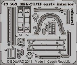 MiG 21MF - Interior [Eduard] · EDU 49569 ·  Eduard · 1:48