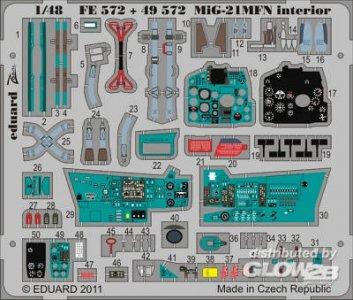 MiG-21MFN - Interior S.A. [Eduard] · EDU 49572 ·  Eduard · 1:48