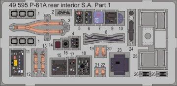 P-61A rear - Interior S.A. [Great Wall Hobby] · EDU 49595 ·  Eduard · 1:48