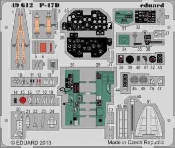 P-47D S.A. [HobbyBoss] · EDU 49612 ·  Eduard · 1:48