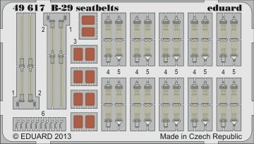 B-29 - Seatbelts [Monogram] · EDU 49617 ·  Eduard · 1:48