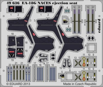 EA-18G NACES - Ejection seat [Italeri] · EDU 49636 ·  Eduard · 1:48