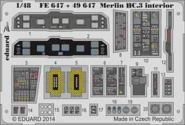 Merlin HC.3 - Interior [Airfix] · EDU 49647 ·  Eduard · 1:48