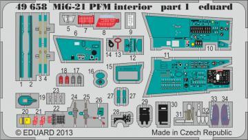MiG-21PFM - Interior [Eduard] · EDU 49658 ·  Eduard · 1:48