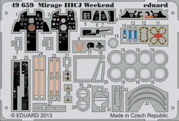 Mirage IIICJ - Weekend Edition [Eduard] · EDU 49659 ·  Eduard · 1:48