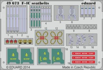 F-4C Phantom - Seatbelts [Academy] · EDU 49673 ·  Eduard · 1:48