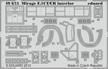 Mirage F.1CT/CR - Interior S.A. [Kitty Hawk] · EDU 49675 ·  Eduard · 1:48