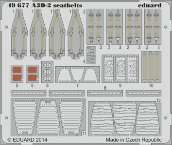 A3D-2 searbelts [Trumpeter] · EDU 49677 ·  Eduard · 1:48