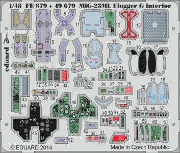 MiG-23ML Flogger G interior S.A. [Trumpeter] · EDU 49679 ·  Eduard · 1:48
