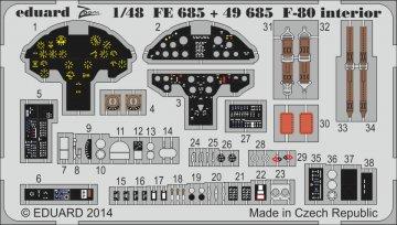 F-80 Shooting Star fighter - Interior S.A. [HobbyBoss] · EDU 49685 ·  Eduard · 1:48