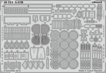 US A-37B Dragonfly Light Ground-Attack [Trumpeter] · EDU 49724 ·  Eduard · 1:48