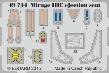 Mirage IIIC - Ejection seat [Eduard] · EDU 49734 ·  Eduard · 1:48
