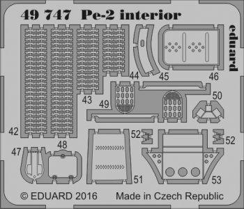 Petlyakov Pe-2 - Interior [Zvezda] · EDU 49747 ·  Eduard · 1:48
