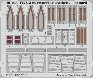EKA-3 Skywarrior - Seatbelts [Trumpeter] · EDU 49763 ·  Eduard · 1:48