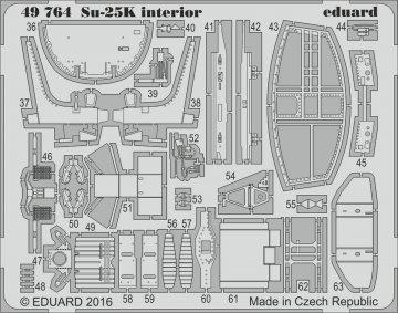 Su-25K - Interior [SMER] · EDU 49764 ·  Eduard · 1:48
