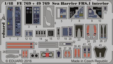 Sea Harrier FRS.1 - Interior [Kinetic] · EDU 49769 ·  Eduard · 1:48