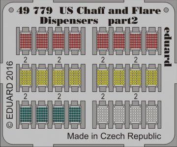 US Chaff and Flare Dispensers · EDU 49779 ·  Eduard · 1:48