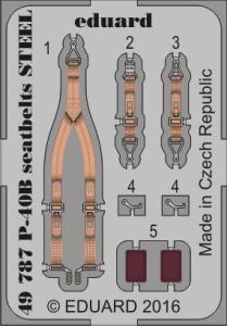 Curtiss P-40B - Seatbelts STEEL [Airfix] · EDU 49787 ·  Eduard · 1:48