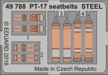 Stearman PT-17 Kaydet - Seatbelts STEEL [Revell] · EDU 49788 ·  Eduard · 1:48