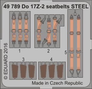 Dornier Do 17 Z-2v - Seatbelts STEEL [ICM] · EDU 49789 ·  Eduard · 1:48